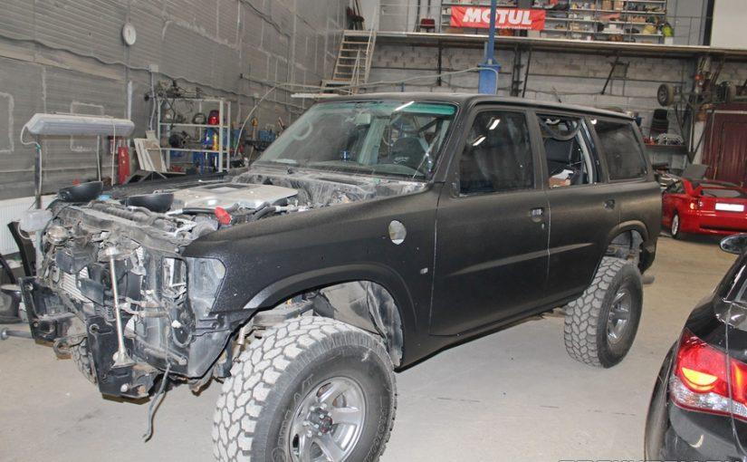 Nissan Patrol полная окраска раптором